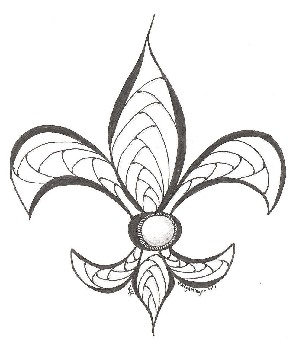 fleur de lys coloring pages - photo#28