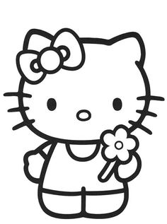 Hello Kitty Pictures Black And White - ClipArt Best