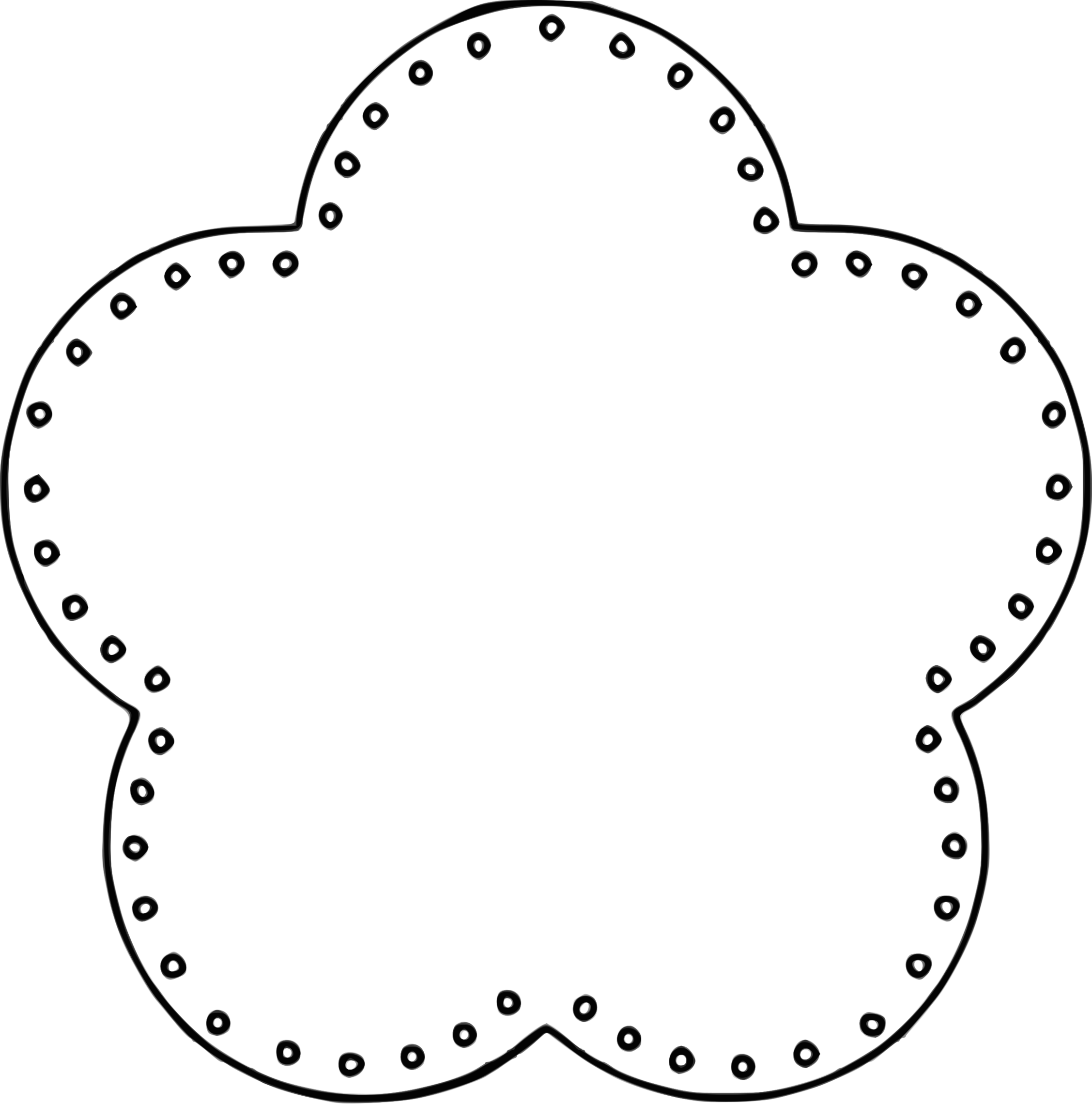 Scallop Circle Template Png Clipart - Free to use Clip Art Resource