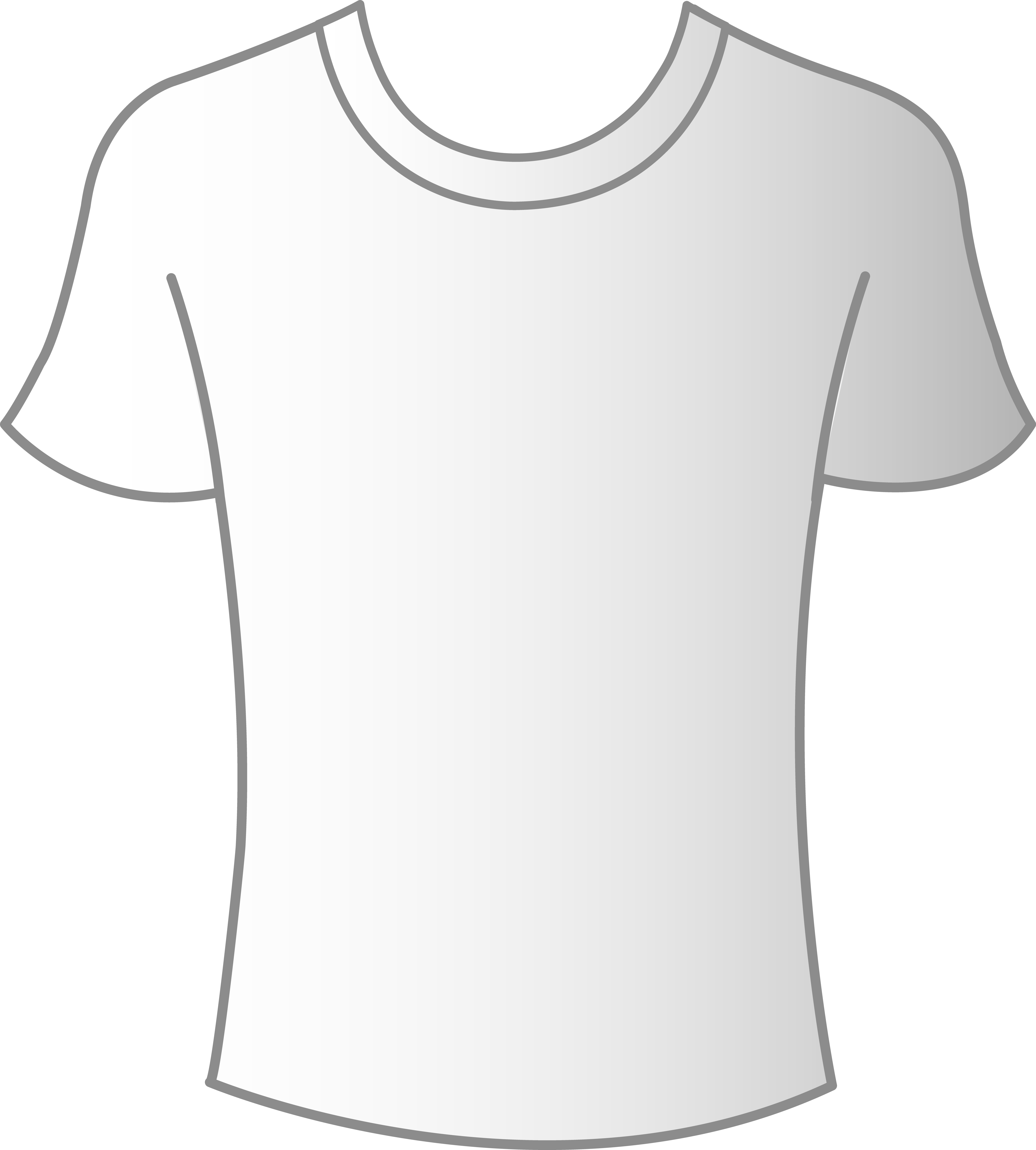 Plain white t shirt front and back clipart best for The best plain white t shirts