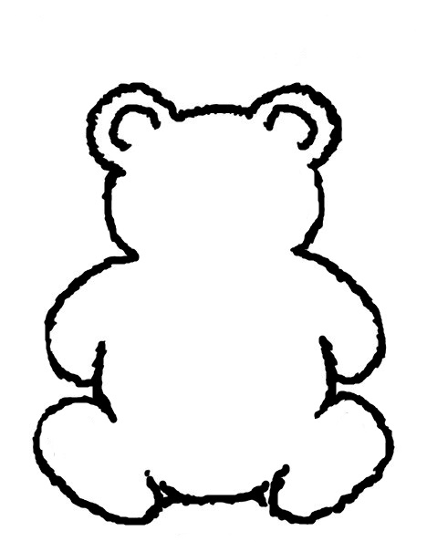 Best Photos of Teddy Bear Stencil Template - Teddy Bear Template ...