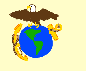 Usmc Eagle Globe And Anchor Drawings - ClipArt Best