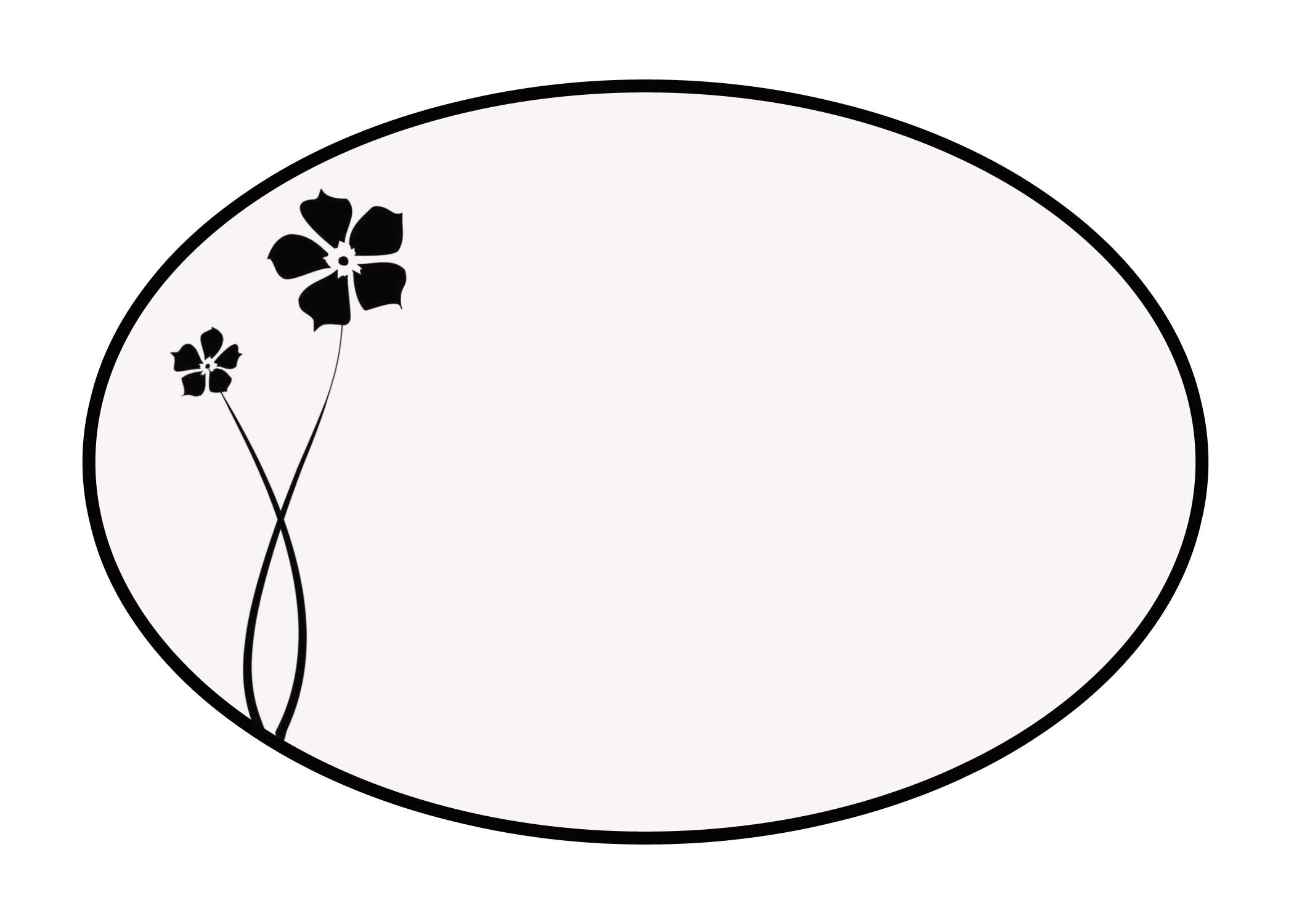 Free Printable Oval Template