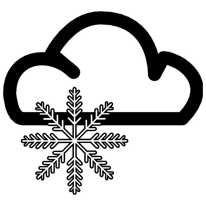 snow weather symbol clipart best