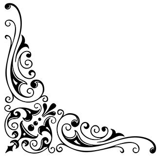 Terbaru 22 Gambar Bingkai Bunga Hitam Putih