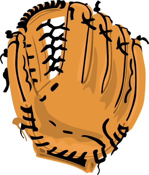 Cartoon baseball glove clipart
