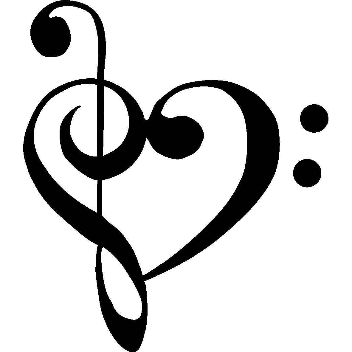 bass clef treble clef heart tattoo clipart best. Black Bedroom Furniture Sets. Home Design Ideas