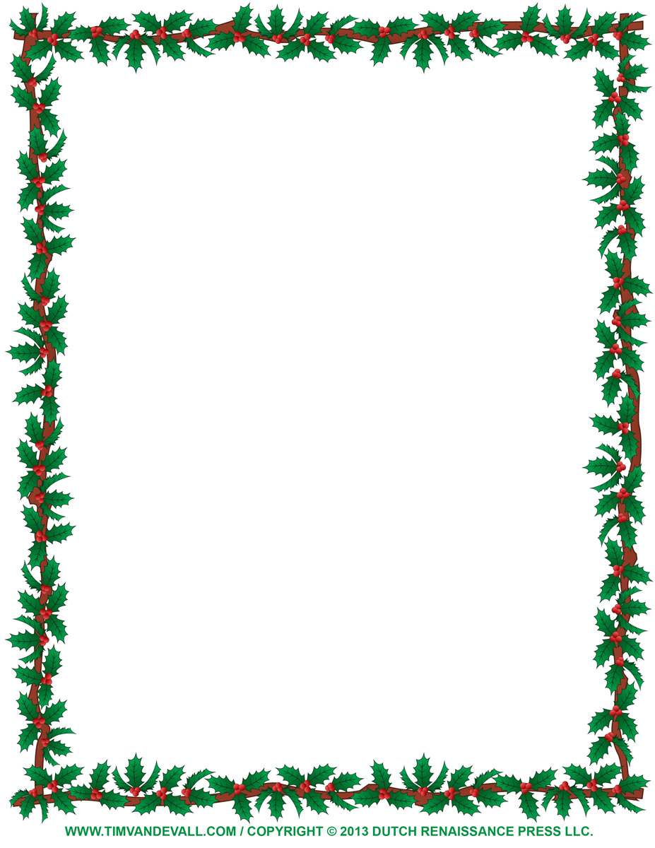 Christmas Page Border Design Art page borders