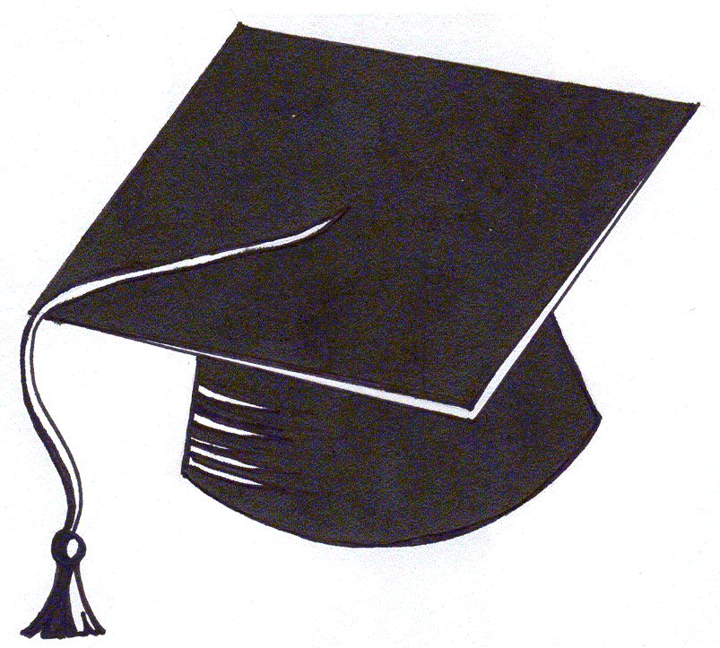 Graduation Cap Outline - ClipArt Best