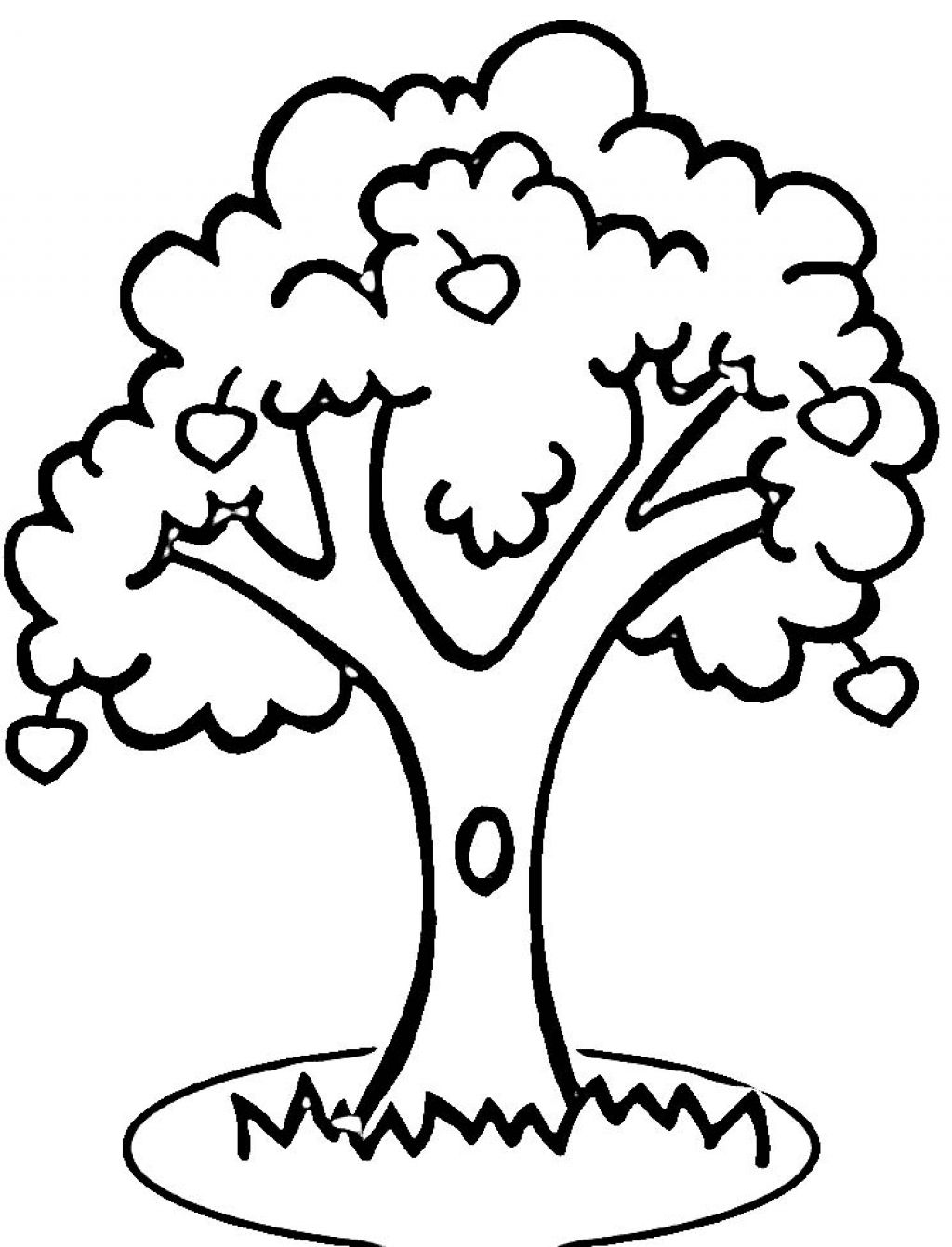 Apple Computer Coloring Pages : Colouring page of tree clipart best
