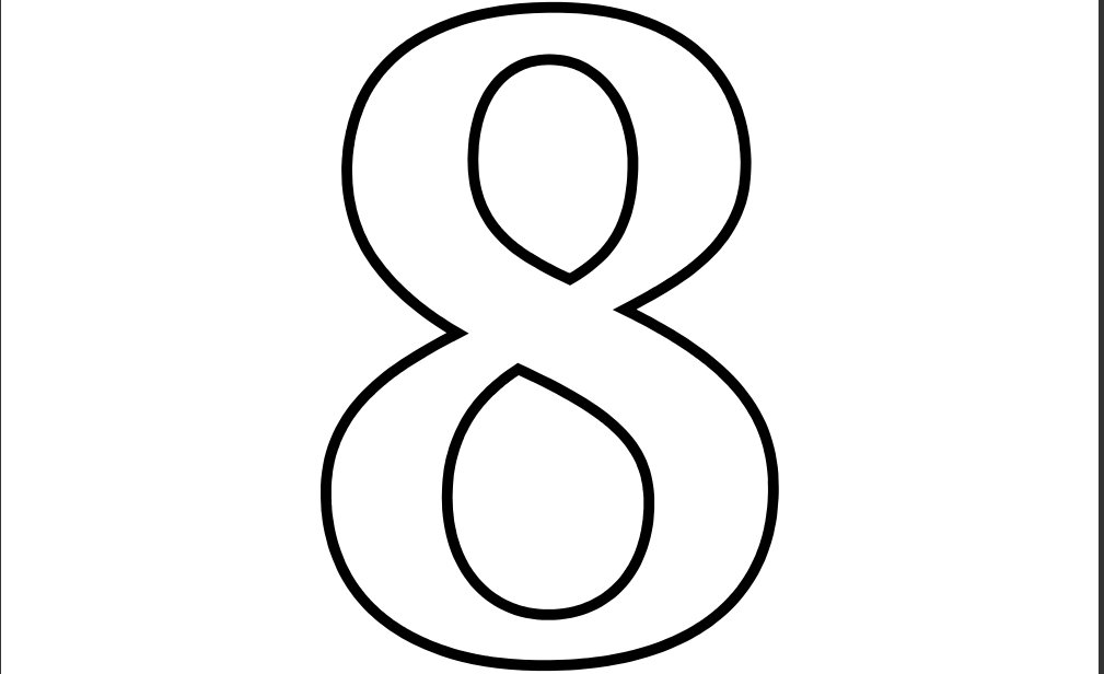 Coloring to print numbers and shapes all numbers for Number 8 coloring page