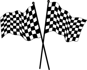 Free Checkered Flag Clip Art Image - Checkered Flags Used in Auto ...