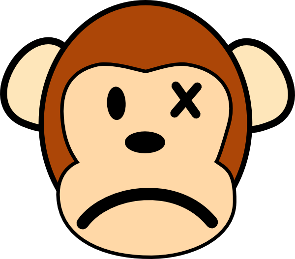 Angry Monkey Clip Art - vector clip art online ...