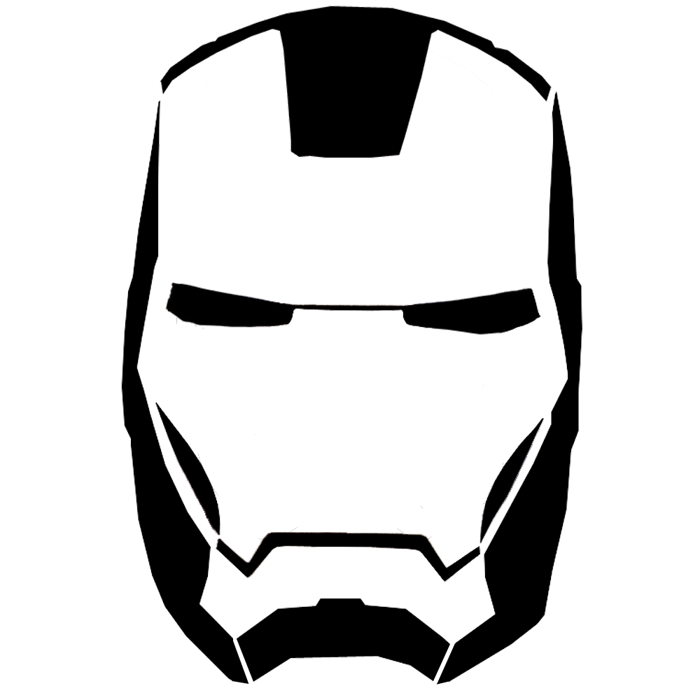 Ironman Helmet Drawing 10 Ironman Head Outline