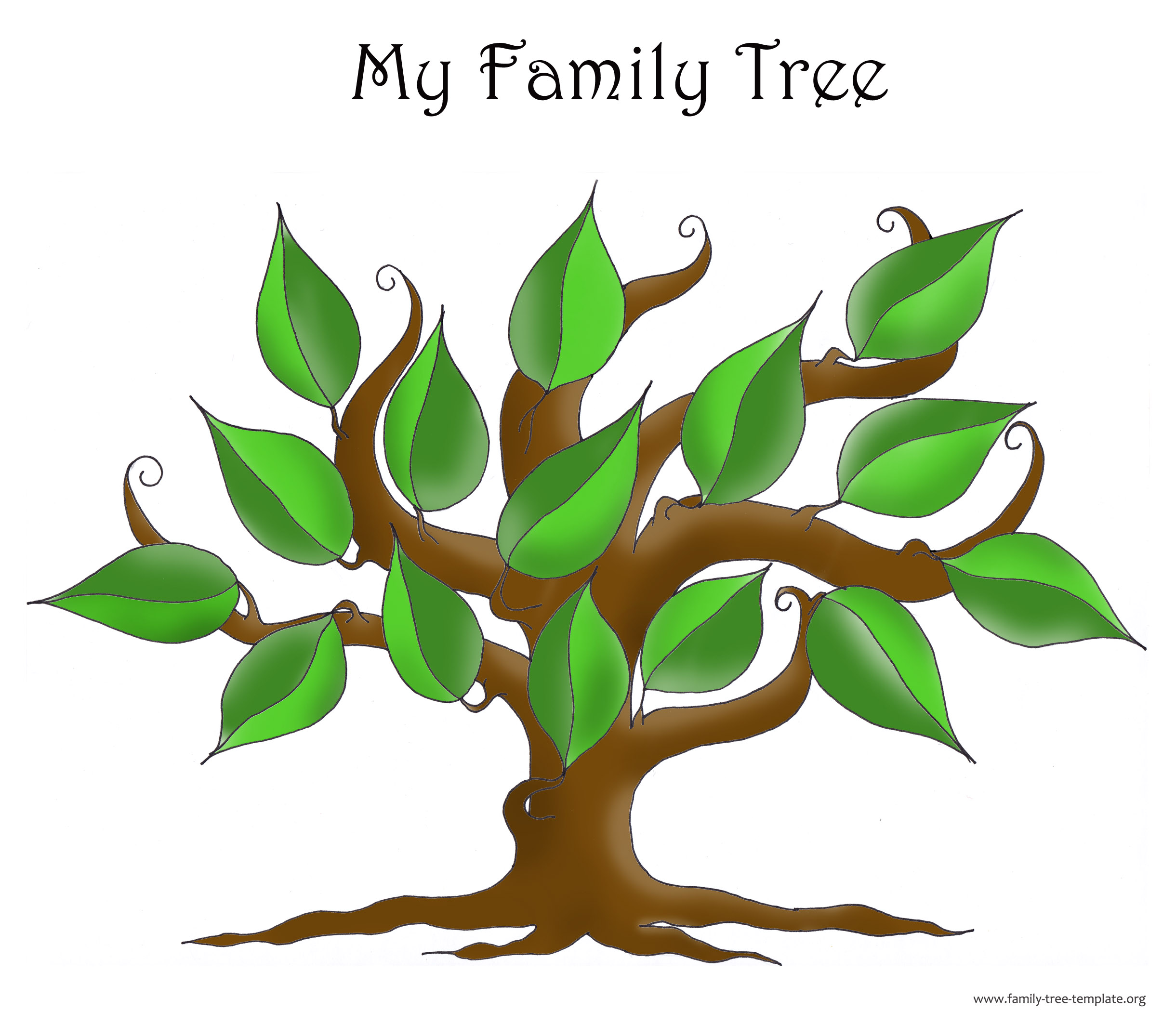35 simple family tree template . Free cliparts that you can download ...