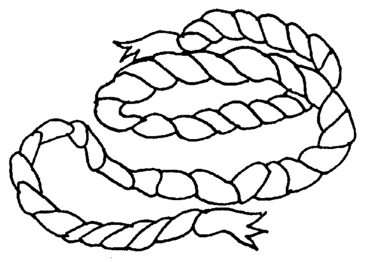 rope coloring page sketch coloring page