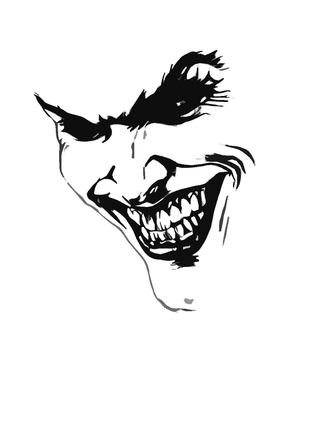Bike stickers design joker -  Nepst3r S Deviantart Gallery Tribal Joker Airbrush Tattoo Design