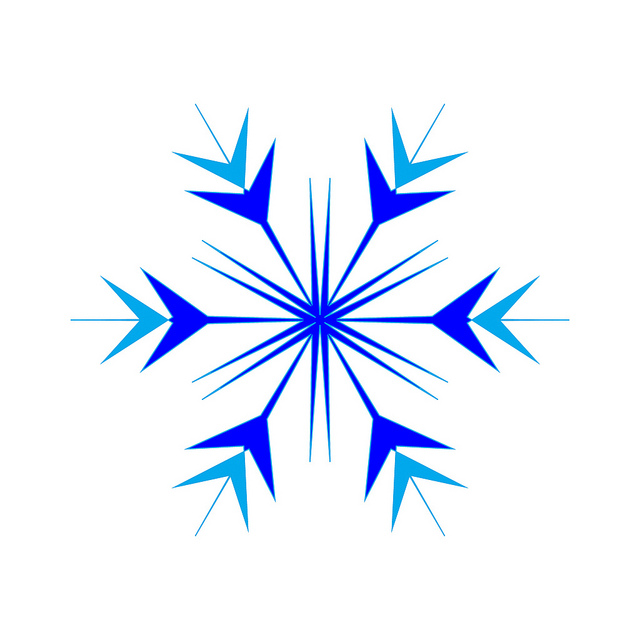 Simple Snowflake - ClipArt Best