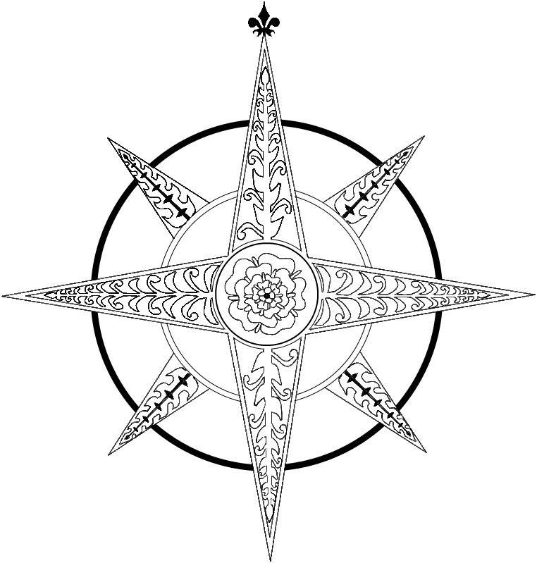 Compass Rose Drawing Rose Tattoo Pictures Compass
