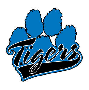 Blue Tiger Paw Print - ClipArt Best