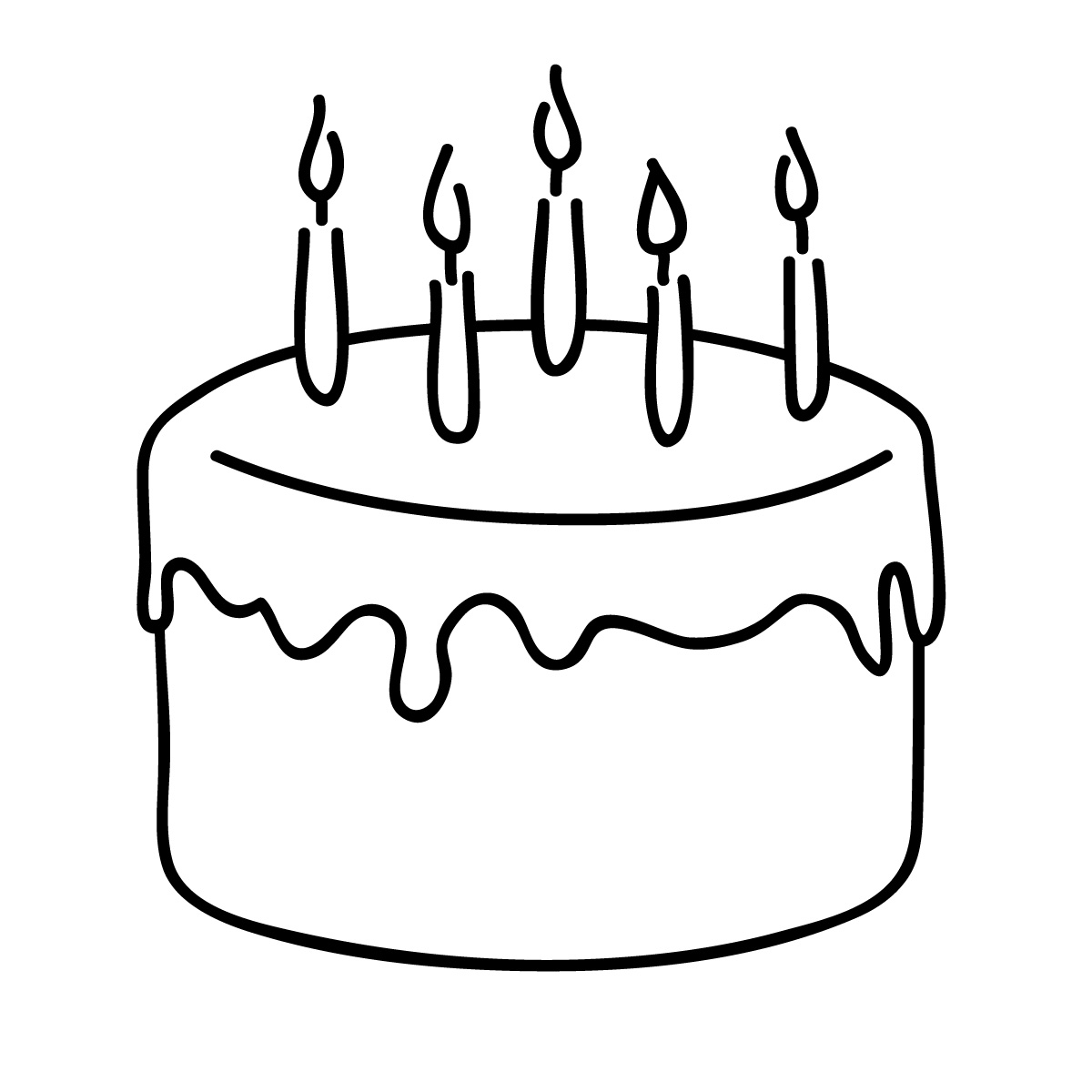 Birthday Cake Coloring Page | HelloColoring.com | Coloring Pages