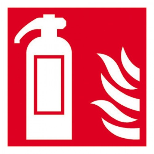 Fire Extinguisher symbol with flames - Safety signs - Health ...