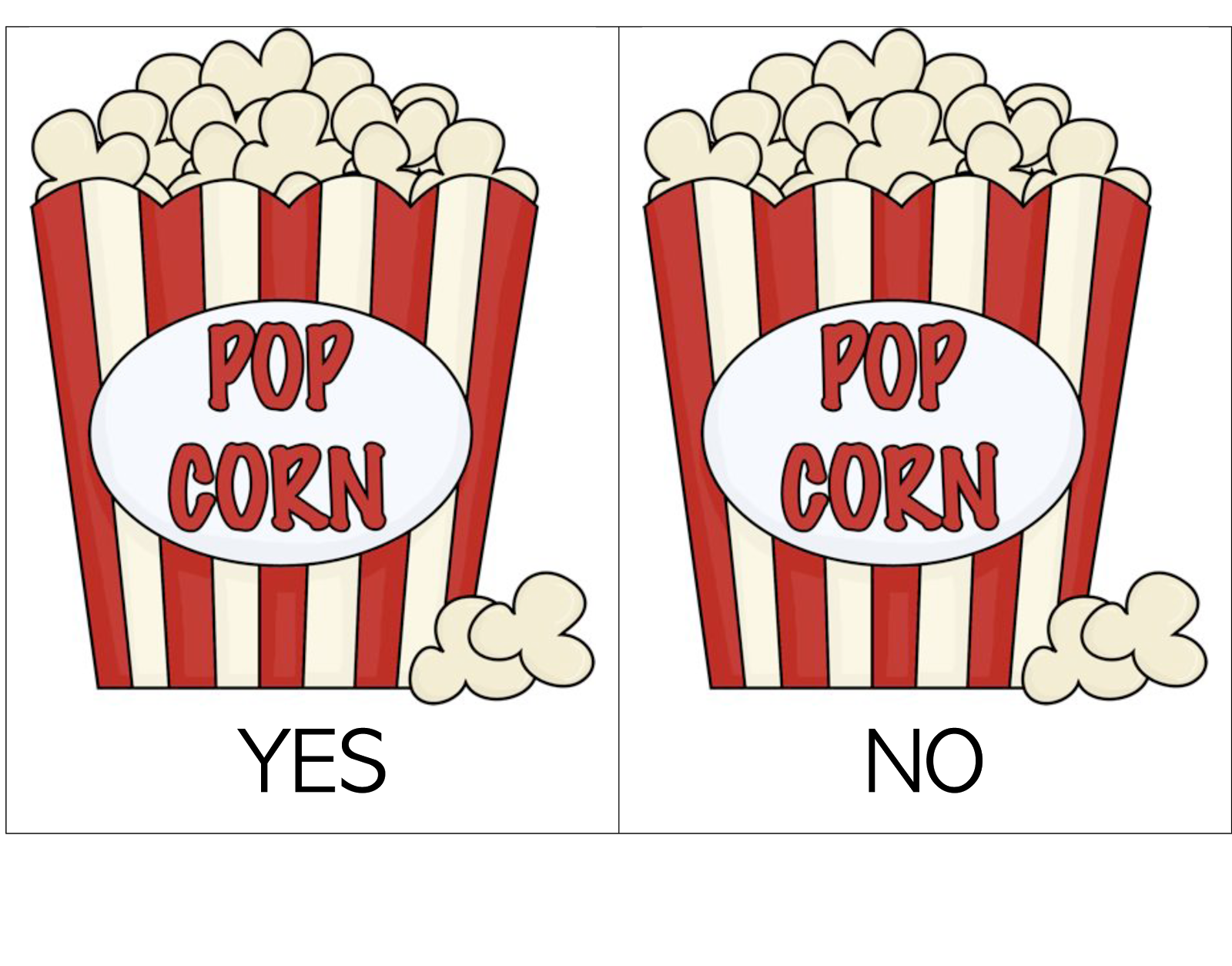 Yes/No Popcorn Containers