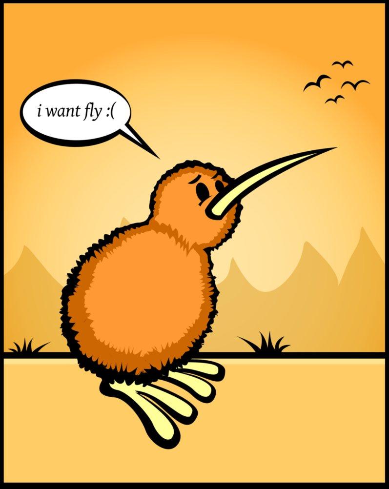 Kiwi Cartoon Drawing Kiwi Bird Drawing All