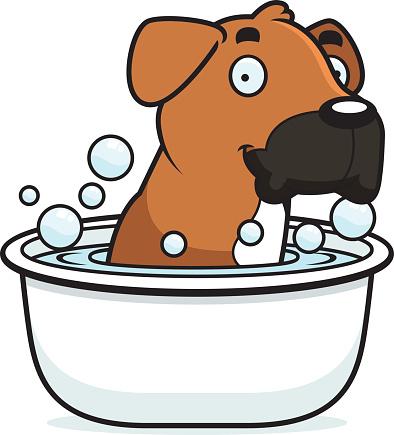 Clip Art Of A Dog Bath Clip Art Vector Images Illustrations
