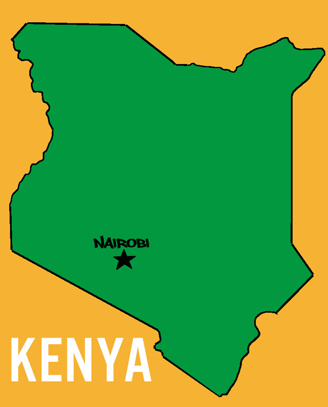Kenya Outline Map - ClipArt Best