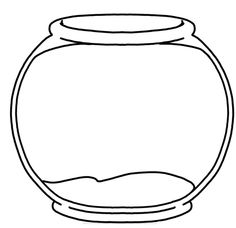 bowl coloring page clipart best fish - Fish Bowl Coloring Page Printable