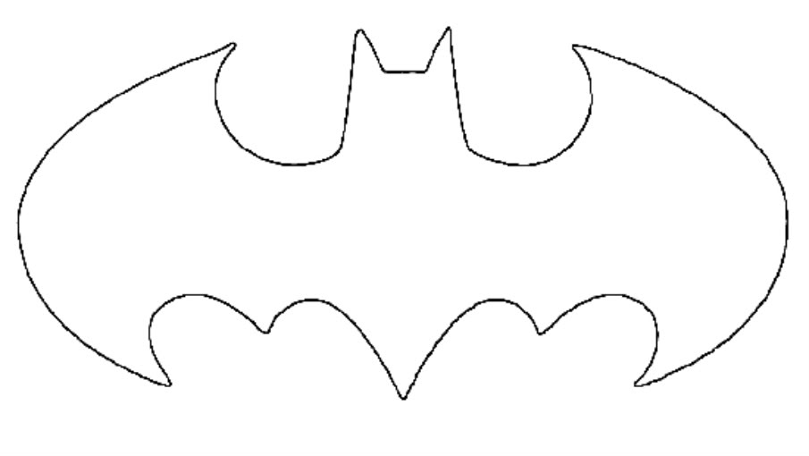 New Batman Symbol Stencil - ClipArt Best