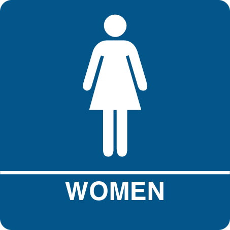 Pix for womens restroom sign clip art clipart best for Ladies bathroom sign