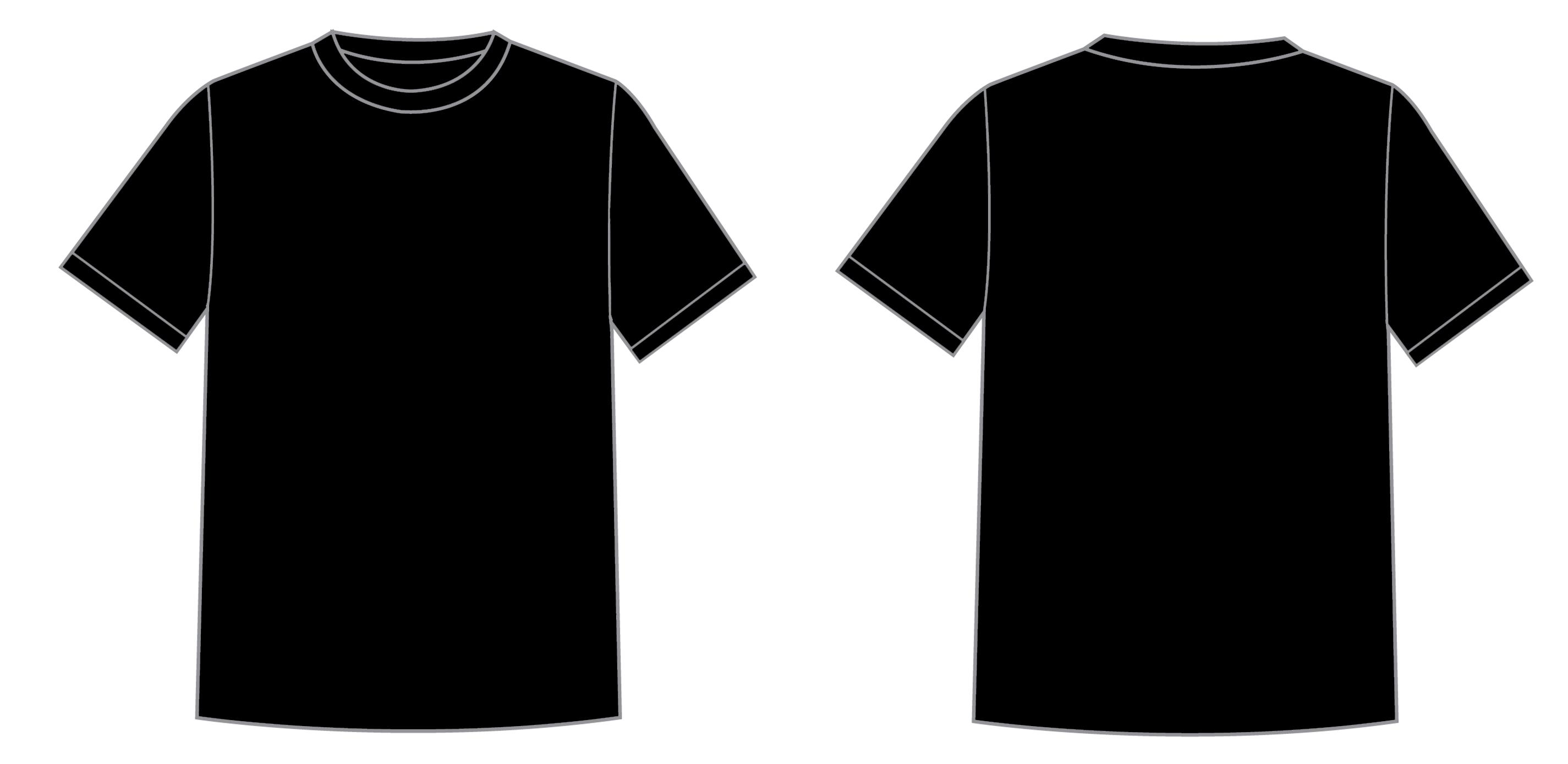 Black T Shirt Layout