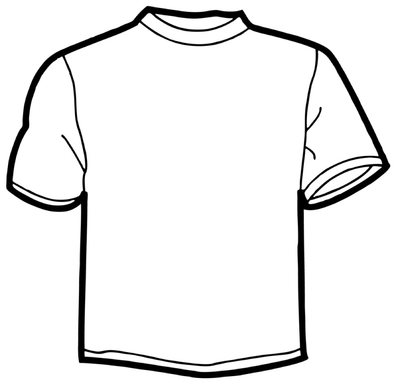 Line Drawing Shirt : Line drawing tshirt clipart best