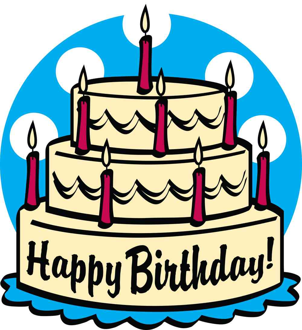 Clip Art Happy Birthday Cake - ClipArt Best