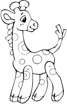 Baby giraffe coloring sheets clipart best for Precious moments giraffe coloring pages