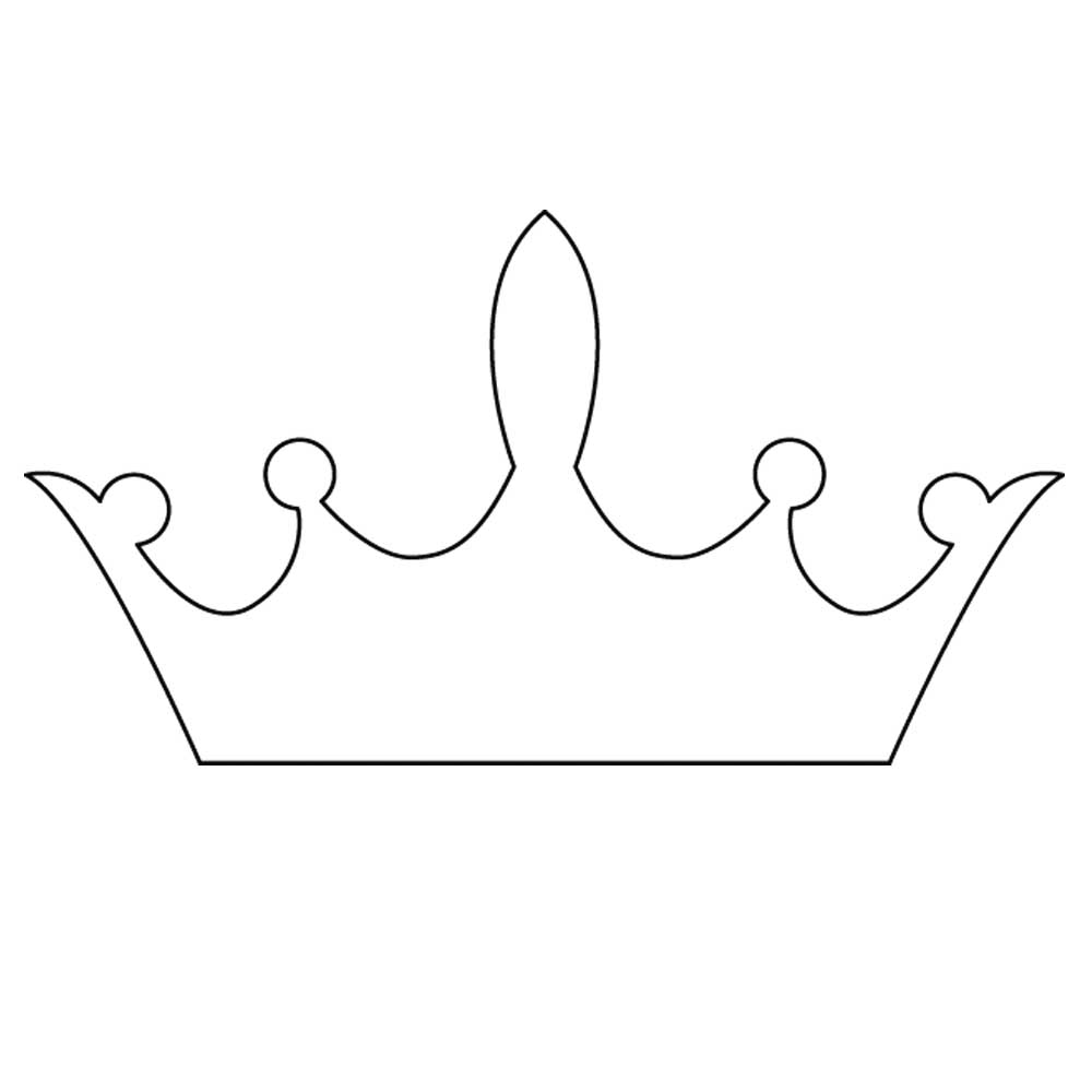 tiara template printable free - free princess crown template clipart best