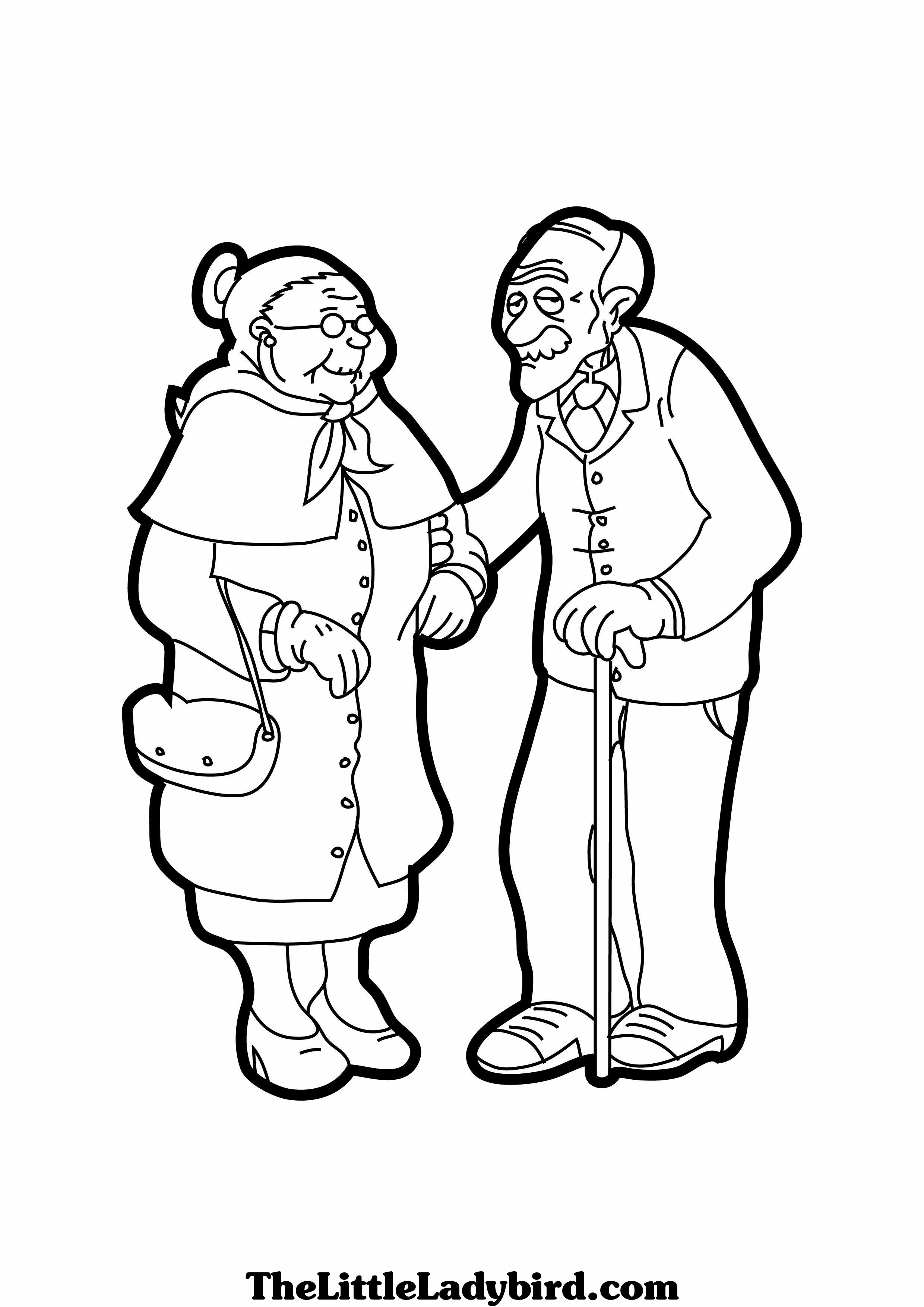 Coloring Pages Of Grandparents Free