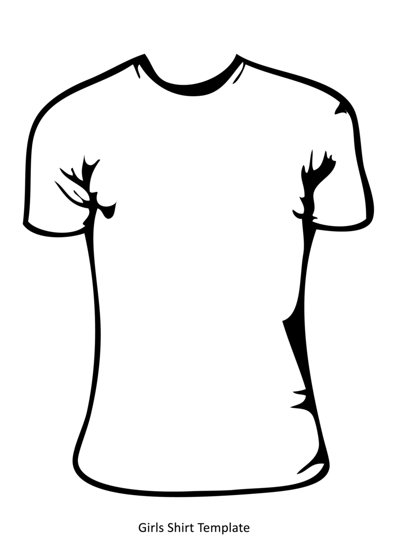 Free T Shirt Template For Kids - ClipArt Best