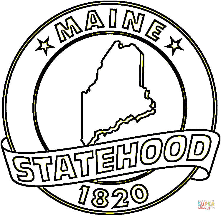 coloring pages for maine - photo#20