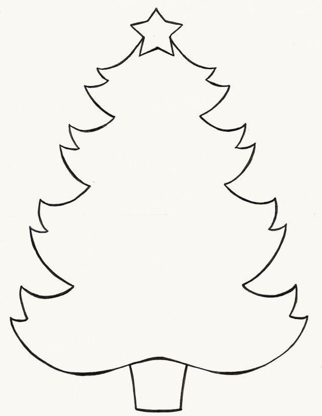 Tree Cut Out Pattern Clipart Best Tree Cut Out Coloring Pages