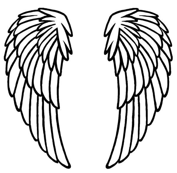 Critical image regarding printable angel wings