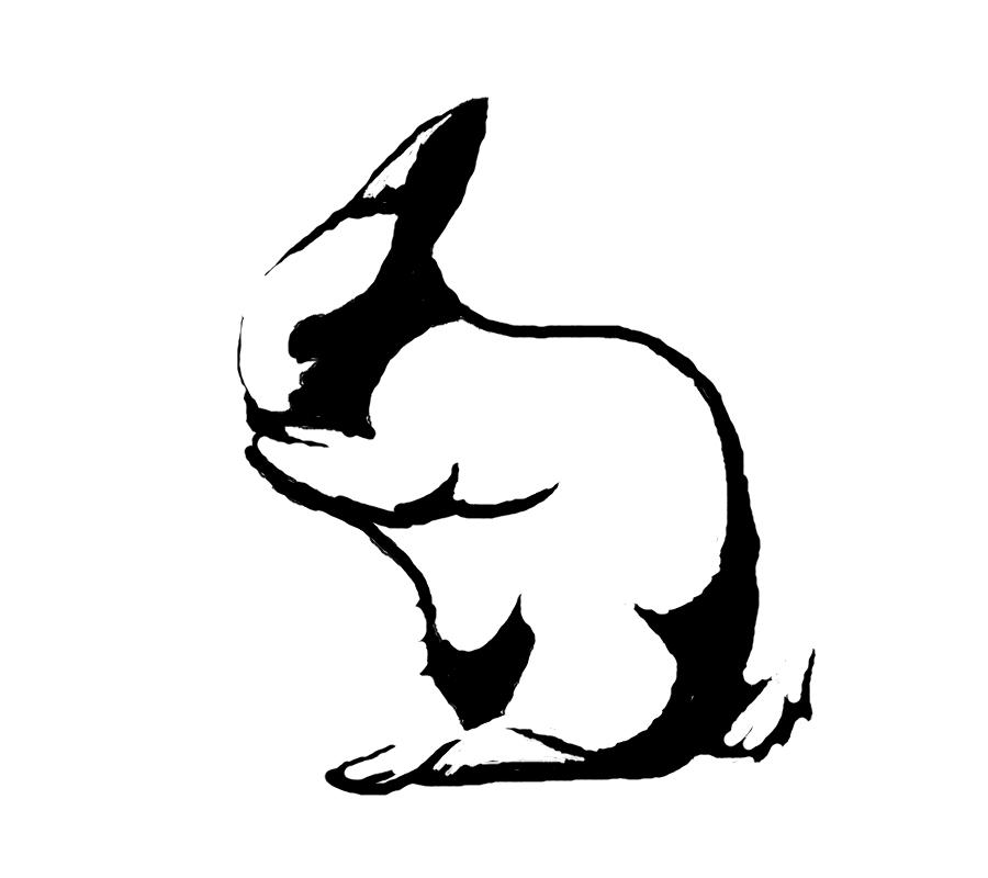 rabbit stencil   clipart best