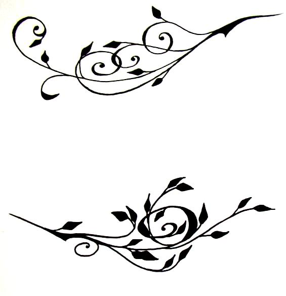 Flower Vine Line Drawing : Flower vine drawings clipart best