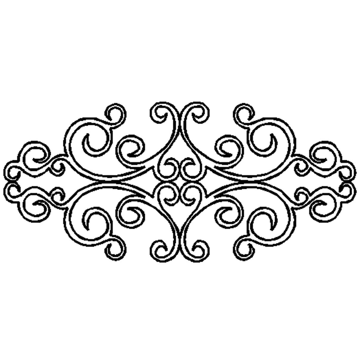 Scroll Stencil Patterns ClipArt Best