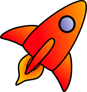 Cartoon Rocket clip art - vector clip art online, royalty free ...