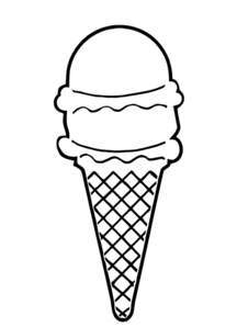 ice cream scoop black and white clipart - photo #33