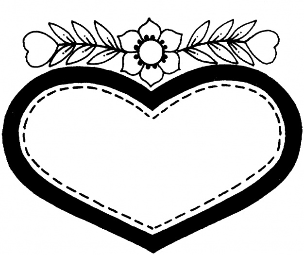 Hearts And Flowers Coloring Pictures