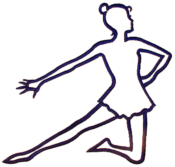 outlines embroidery design kneeling dancer outline from ekg clip art heart ekg clipart black and white